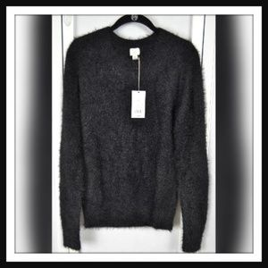 NWT A New Day Fuzzy Black Sweater, Long Sleeves